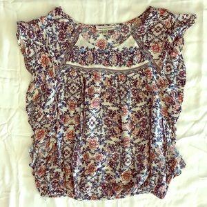Ruffled Floral T-Shirt